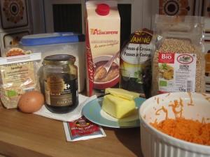 Galletitas de quinoa con zanahoria