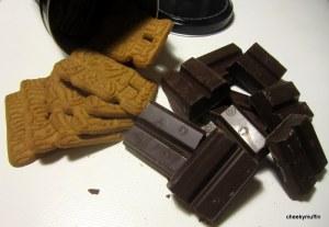 Crema para untar de chocolate negro y galletas spéculoos